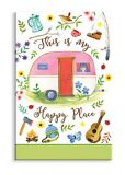 Souvenir Magnet - Happy Place Camper