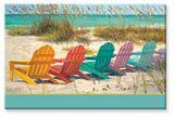 Souvenir Magnet - Beach Scene with Adirondack Chairs