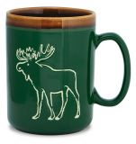 Hand Glazed Mug - Moose