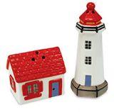 Novelty Salt & Pepper Set - Lighthouse & House