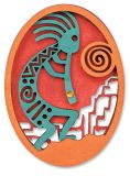 Laser Cut Wood Magnet - Kokopelli