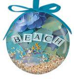 """Ball Ornament - Beach Walk """"Beach"""""""