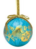 Ball Ornament - Gold Shells