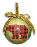 Ball Ornament - Rustic Chic Bear