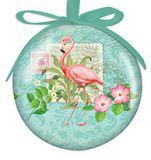 Ball Ornament - Summer Seas Flamingo