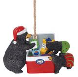 Resin Ornament - Cooler Raiding Black Bears