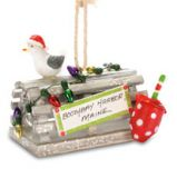 Handcrafted Ornament - Lobster Trap Polka Dot Buoy with Lights