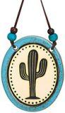 Pottery Disk Ornament - Saguaro