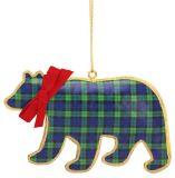 Pillowed Metal Ornament - Bear