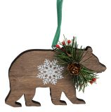 Diecut Wood Ornament - Bear