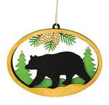 Laser Cut Wood Ornament - Bear