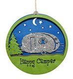 Laser Cut Wood Ornament - Happy Camper