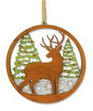 Laser Cut Wood Ornament - Deer