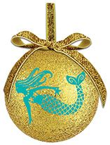 Ball Ornament - Mermaid on Gold