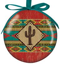 Ball Ornament - Camp Blanket Saguaro