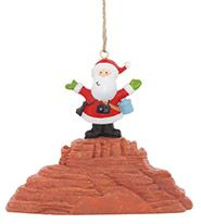 Resin Ornament - Santa at Red Rocks