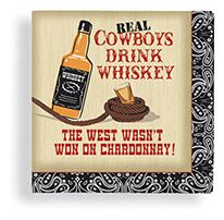 Beverage Napkin 24 ct Real Cowboys