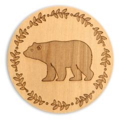 Wood Coaster - Bear
