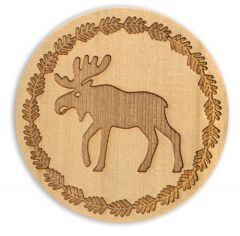 Wood Coaster - Moose