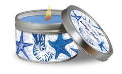 Travel Candle - Indigo Shells