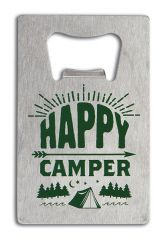 Credit Card Bottle Opener - Happy Camper