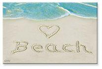 Souvenir Magnet - <3 Beach