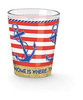 Shot Glass - Home is where the Anchor Drops