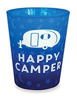 Velvet Shot Glass - Happy Camper