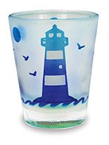 Frosted Shot Glass - Lighthouse