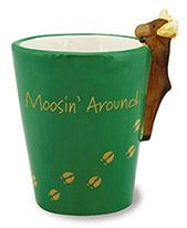 Ceramic Novelty Shot Glass - Moosin' Around