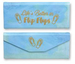 Folding Glasses Case - Life is Better in Flip Flops