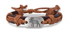 Leather Bracelet - Moose