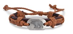 Leather Bracelet - Bear
