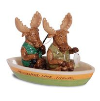 Novelty Salt & Pepper Set - Moose Fishing