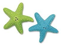 Novelty Salt & Pepper Set - Coastal Color Starfish