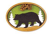 Laser Cut Wood Magnet - Bear
