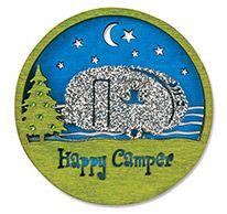 Laser Cut Wood Magnet - Happy Camper