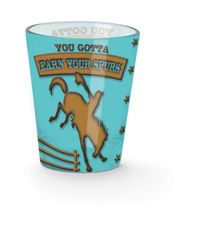 Shot Glass - Earn Your Spurs