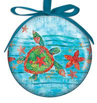 Ball Ornament - Watercolor Sea Turtle