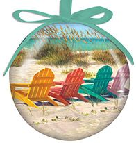 Ball Ornament - Colorful Adirondack Chairs