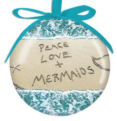 Ball Ornament - Peave Love & Mermaids