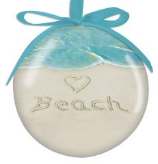 Ball Ornament - <3 BEACH