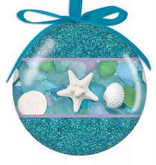 Ball Ornament - Photographic Sea Glass and Shells