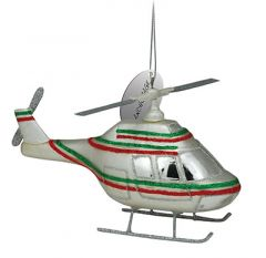 Blown Glass Ornament - Helicopter