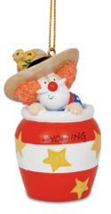 Resin Ornament - Santa Rodeo Clown
