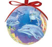 Ball Ornament - Dolphin Cove