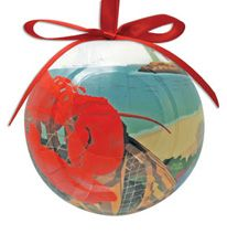 Ball Ornament - Lobster Harbor