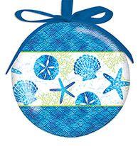 Ball Ornament - Beach Batik