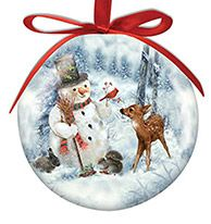 Ball Ornament - Snowman and Friends