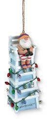 Resin Ornament - Santa on Lifeguard Chair